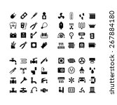 house system icons. set icons... | Shutterstock .eps vector #267884180