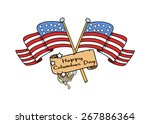 columbus day flags paper banner | Shutterstock .eps vector #267886364