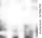 grunge halftone dots vector... | Shutterstock .eps vector #267886700