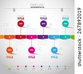infographic timeline report... | Shutterstock .eps vector #267892019