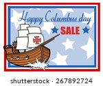 happy columbus day sale graphic ... | Shutterstock .eps vector #267892724