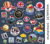 europe. stickers and symbols.... | Shutterstock .eps vector #267895544