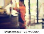 blurred of restaurant | Shutterstock . vector #267902054