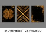 set of gold and black ... | Shutterstock .eps vector #267903530