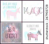 set of magical cards with a... | Shutterstock . vector #267903728