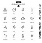 Food Icons Line Series Two ...
