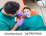 little boy having his teeth... | Shutterstock . vector #267907544