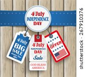 independence day sale price... | Shutterstock .eps vector #267910376