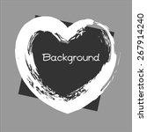 grunge valentine banner | Shutterstock .eps vector #267914240