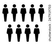 people icon   vector | Shutterstock .eps vector #267919703