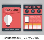 design flyers  brochures ... | Shutterstock .eps vector #267922403