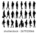 big set of black silhouettes of ... | Shutterstock . vector #267923066