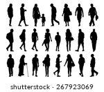 big set of black silhouettes of ... | Shutterstock . vector #267923069