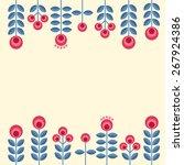 scandinavian folk style flowers ... | Shutterstock .eps vector #267924386