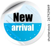 new arrival blue stickers. | Shutterstock . vector #267929849