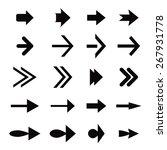 set of black vector arrows | Shutterstock .eps vector #267931778