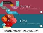 flat design paper infographic... | Shutterstock .eps vector #267932324