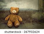lonely teddy bear | Shutterstock . vector #267932624