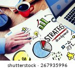 strategy development goal... | Shutterstock . vector #267935996