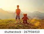 toddler and teddy | Shutterstock . vector #267936410