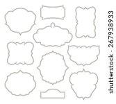 vintage frames isolated on... | Shutterstock .eps vector #267938933