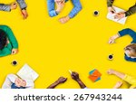 diversity teamwork discussion... | Shutterstock . vector #267943244