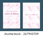 set of two stylish templates... | Shutterstock .eps vector #267943709