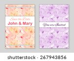 set of two stylish templates... | Shutterstock .eps vector #267943856