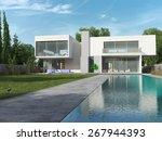 external view of a contemporary ... | Shutterstock . vector #267944393