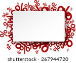 white paper note background... | Shutterstock .eps vector #267944720