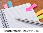 daily planner with some sticky... | Shutterstock . vector #267944843