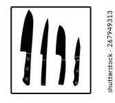 knives black silhouette. set of ... | Shutterstock .eps vector #267949313