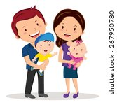 cheerful family smiling. happy... | Shutterstock .eps vector #267950780