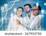 group of geneticists working at ... | Shutterstock . vector #267953750