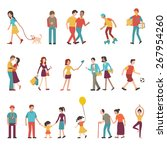 people in various lifestyles ... | Shutterstock .eps vector #267954260