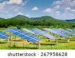 solar panels in the sunset | Shutterstock . vector #267958628