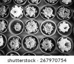 thai traditional  folded white... | Shutterstock . vector #267970754