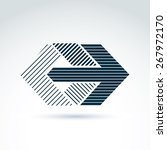 geometric abstract symbol with... | Shutterstock . vector #267972170