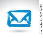 hand drawn simple mail icon ...