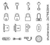 icons of keys and locks. vector ... | Shutterstock .eps vector #267982844