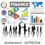 finance bar graph chart...   Shutterstock . vector #267987236