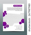 business flyer template  ... | Shutterstock .eps vector #267987980