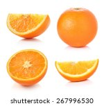 orange fruit isolated on white... | Shutterstock . vector #267996530