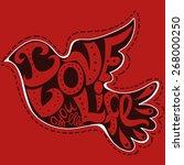 graphic bird made of hand drawn ... | Shutterstock .eps vector #268000250