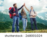 travel  tourism  hike  gesture... | Shutterstock . vector #268001024