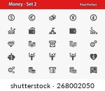 money icons. professional ... | Shutterstock .eps vector #268002050