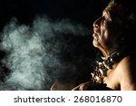 shaman in ecuadorian amazonia... | Shutterstock . vector #268016870