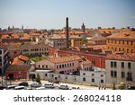 venice cityscape from above.... | Shutterstock . vector #268024118