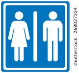toilets icon | Shutterstock .eps vector #268027334