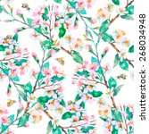 spring pattern.flowering... | Shutterstock . vector #268034948
